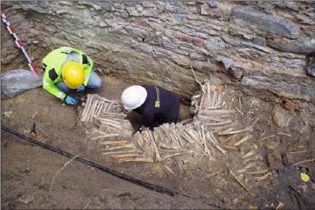Las nueve paredes de huesos humanos de la catedral de Gante